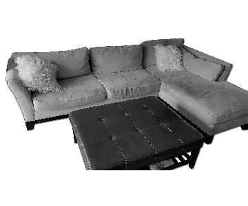 La-Z-Boy Sectional Couch & Ottoman