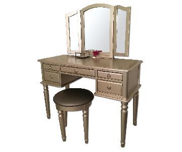 Vanity Table w/ Mirror & Stool