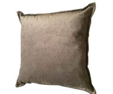 Grey Velvet Decorative Pillows