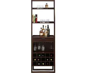Crate & Barrel Sloane Java Leaning Wine Bar