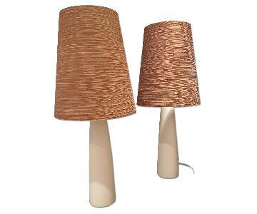 Mid Century Modern Ceramic Lamps