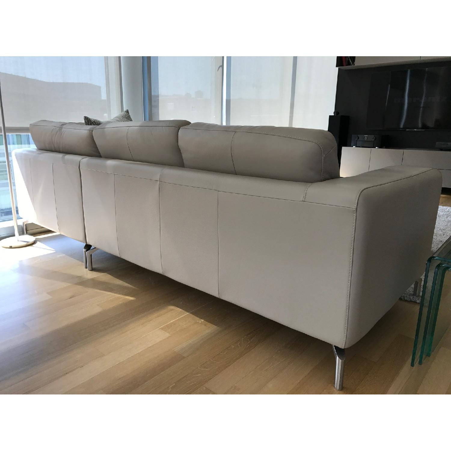 ... Natuzzi Savoy 5-Seat Sectional Corner Sofa in Taupe-1 ...  sc 1 st  AptDeco : taupe sectional - Sectionals, Sofas & Couches