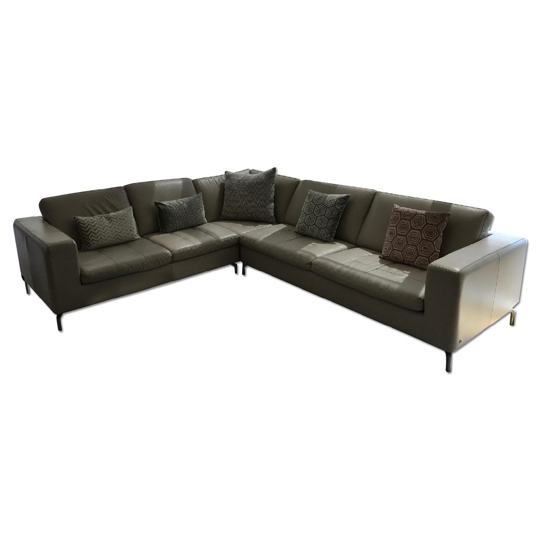 Natuzzi Savoy 5 Seat Sectional Corner Sofa in Taupe AptDeco