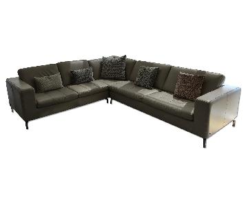 Natuzzi Savoy 5-Seat Sectional Corner Sofa in Taupe