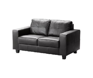 Ikea Skogaby Leather Loveseat
