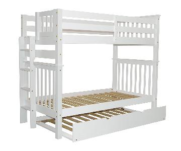 Bedz King Tall Mission Style Twin over Twin Bunk Bed