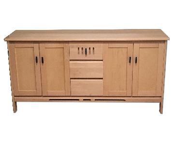 Baronet Solid Maple Wood Credenza
