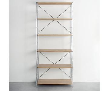 Crate & Barrel Max-6 Shelf Unit Wood