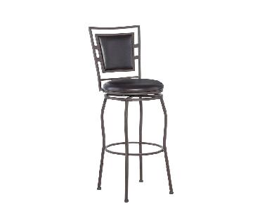 Linon Townsend Adjustable Height Dark Brown Bar Stools