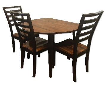 Holland House Dining Drop-Leaf Round Table w/ 4 Chairs