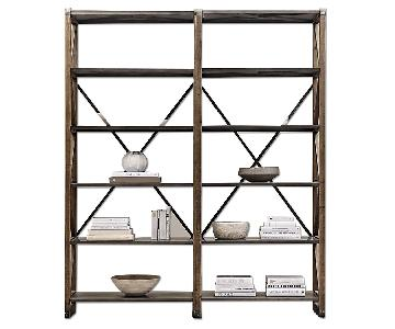 Restoration Hardware 20th C. Zinc Truss Double Shelving