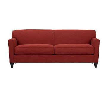 Crate & Barrel Red Sofa