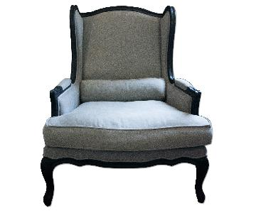 Restoration Hardware Belgian Linen Arm Chair