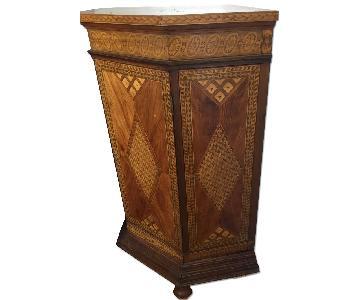 Antique Corner Storage Cabinet