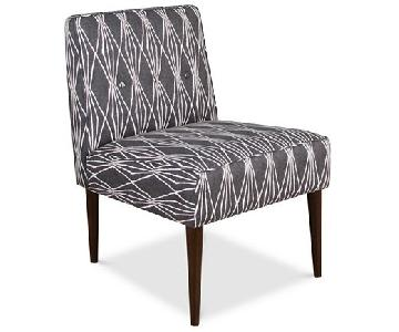 Macy's Palmdale Handcut Shapes Fabric Accent Chair