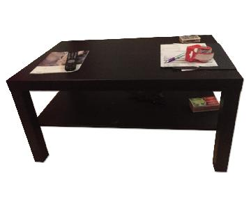 Bed Bath & Beyond Black Coffee Table + Side Table