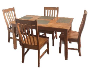 Wooden 5 Piece Dining Set