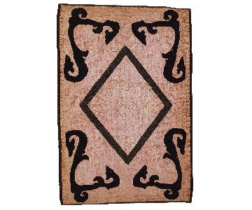 Antique 1920s American Hooked Rug
