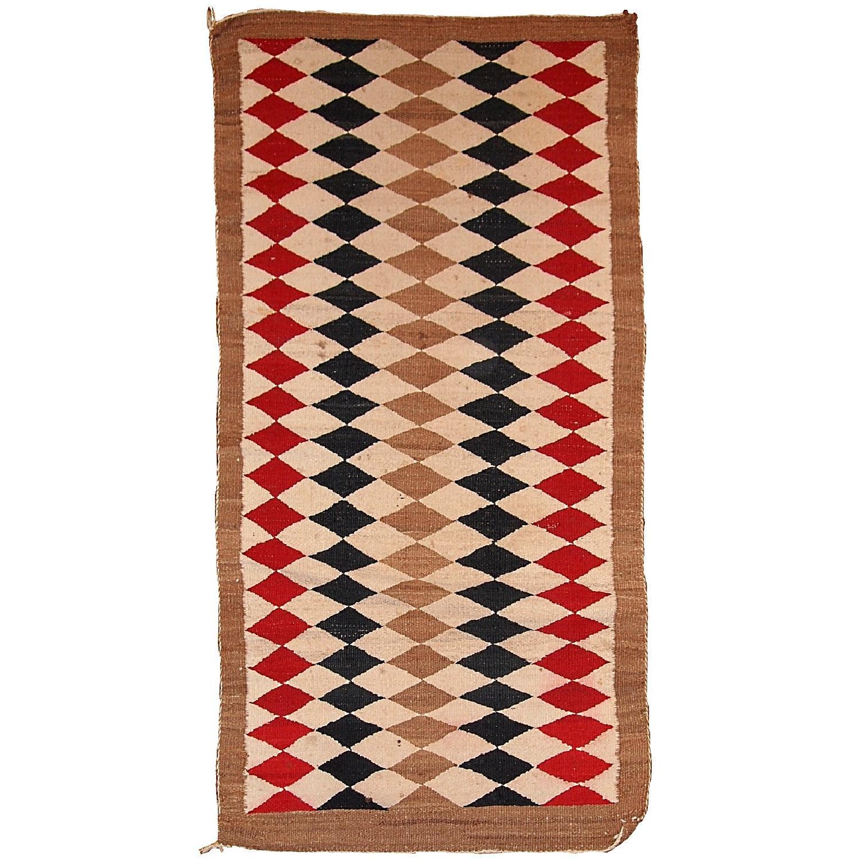 Antique 1920s Native American Indian Navajo Rug