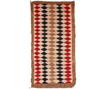 Antique 1920s Native American Indian Navajo Rug