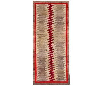 Antique 1900s Americano Indian Navajo Rug