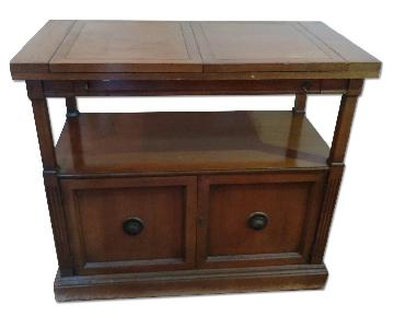Vintage Fold-Out End Table/Bar