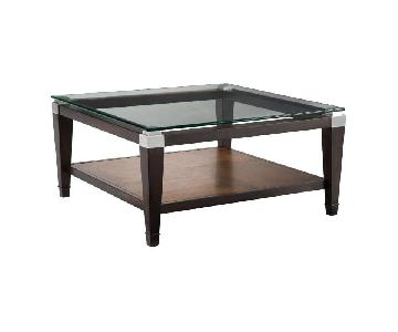 Raymour & Flanigan Coffee Table + 2 End Tables