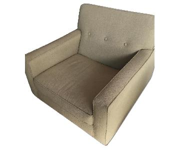 Macy's Mid Century Green Armchair