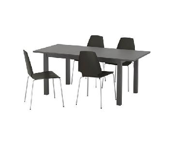 Ikea 5 Piece Dining Set in Black
