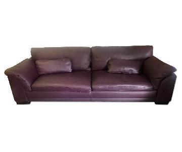 Gurian Modern Italian Leather Sofa