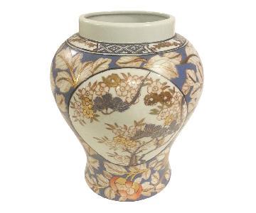 Famille Rose Temple Jar