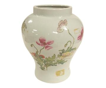 Lotus Design Famille Rose Temple Jar