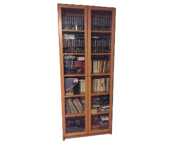 Ikea Bookcase w/ Glass Doors