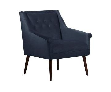 One Kings Lane Bella Navy Tufted Chairs