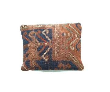 Antique Kazak Rug Fragment Pillow