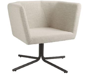 CB2 Facetta Modern Natural Swivel Chair