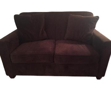 Raymour & Flanigan Brown Microfiber Couch