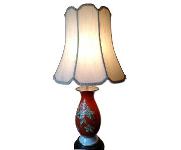 Vintage Floral Table Lamp