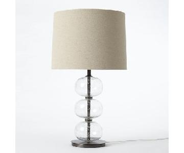West Elm Abacus Clear Table Lamp w/ Shade