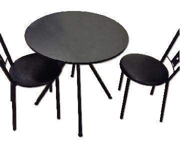 Amisco Industries Round Coffee/Dining Table w/ 2 Chairs
