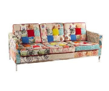 Tufted Patchwork Sofa