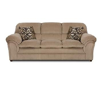 Simmons Harper Cocoa Upholstery 3-Seater Sofa