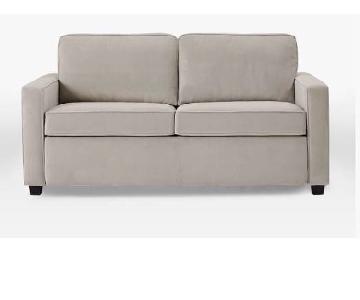 West Elm Henry Dove Grey Performance Sofa