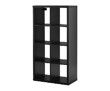 Ikea Kallax Bookcase/Room Divider in Black-Brown