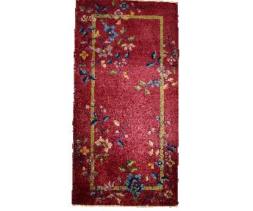 Antique 1920s Art Deco Chinese Rug