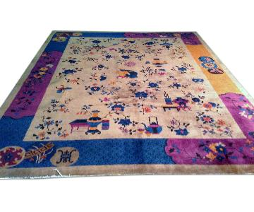 Antique 1920s Chinese Art Deco Rug
