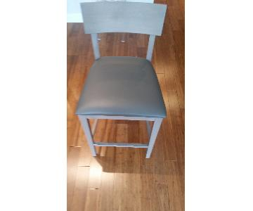 Room & Board Doyle Counter Stool w/ Grey Leather Seat
