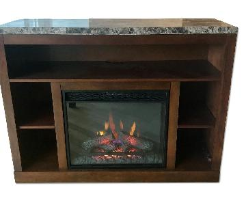 Media Stand w/ Electric Fireplace