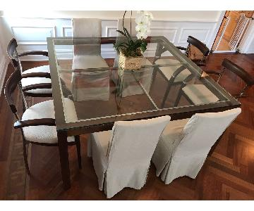 Artefacto Wood & Glass Square Table