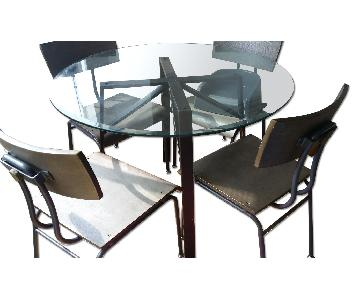 Crate & Barrel Dining Table w/ 4 Chairs